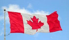 علم كندا /المنتصف