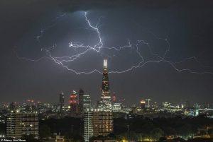 عواصف وبرق بريطانيا /المنتصف