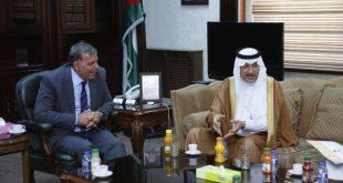 الأمير خالد الفيصل يلتقي وزير الصحة الاردني