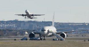 طائرة -مطار/صحيفة المنتصف