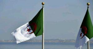 علم الجزائر / المنتصف