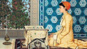 لوحة عثمانية /المنتصف