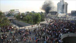 مظاهرات بغداد /المنتصف