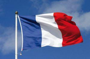 علم فرنسا /المنتصف