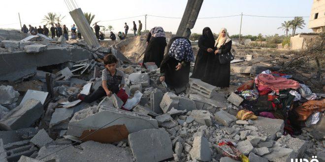 غزة دمار /المنتصف