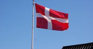 علم الدنمارك /المنتصف