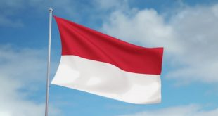 علم اندونيسيا /المنتصف