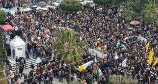 مظاهرات غزة _المنتصف