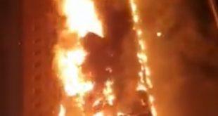 حريق الشارقة -المنتصف