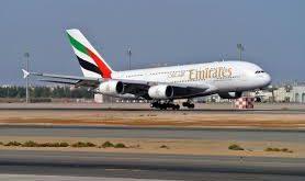 طائرة اماراتية -المنتصف