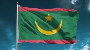 علم موريتانيا -المنتصف