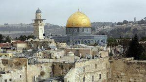 قبة الصخرة القدس -المنتصف