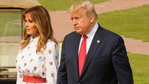 ترامب وزوجته -المنتصف