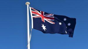 علم استراليا -المنتصف