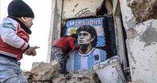 لوحة مارادونا-المنتصف