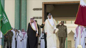 قطر والسعودية -المنتصف