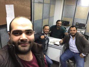 تامر الضمور ،محمد الجزازي،عارف الدبايبه ورعد حجازين -المنتصف
