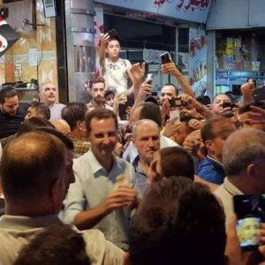 الأسد وعائلته -المنتصف