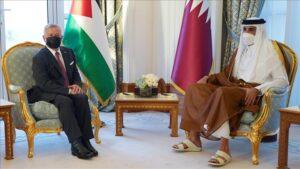 قطر والأردن - المنتصف